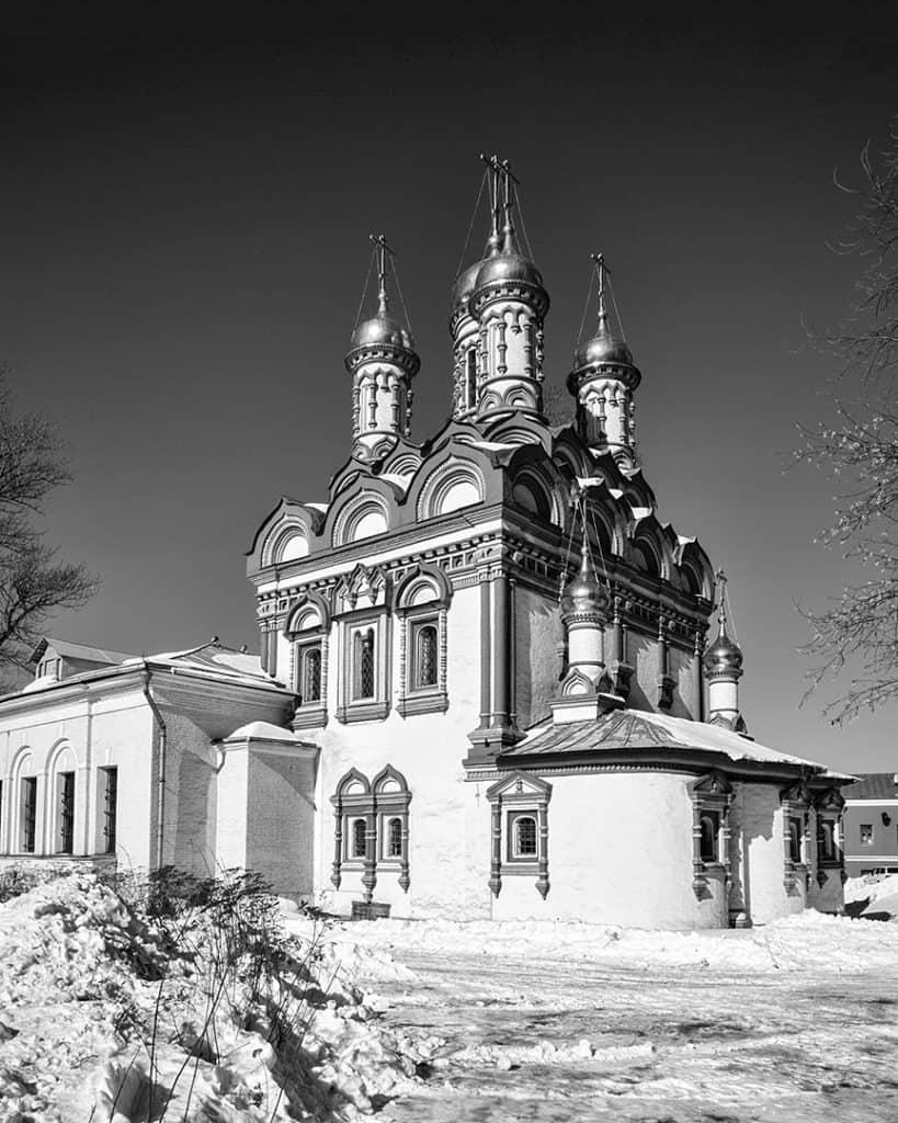 Church of Saint Nicholas, Khamovniki, Moskow, Russia. 2013