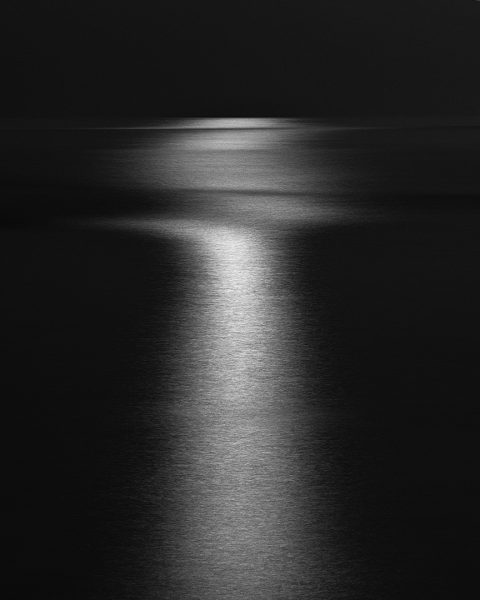 Moonlight Over the Sines Beach, Sines, Portugal. 2020